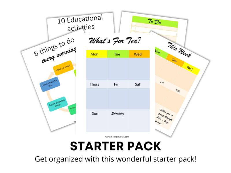 organizing starter pack
