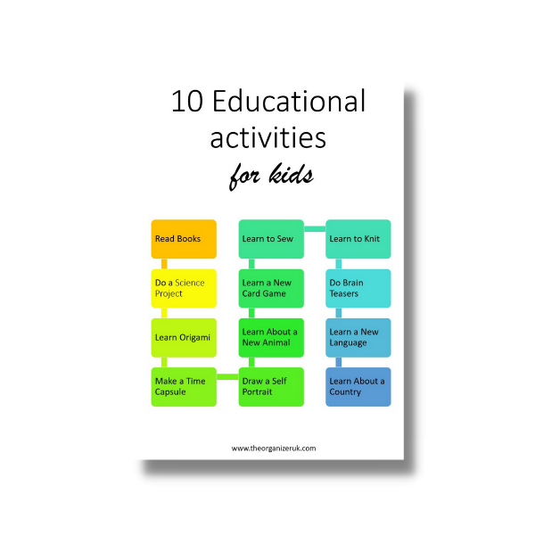 10 educational activities for kids