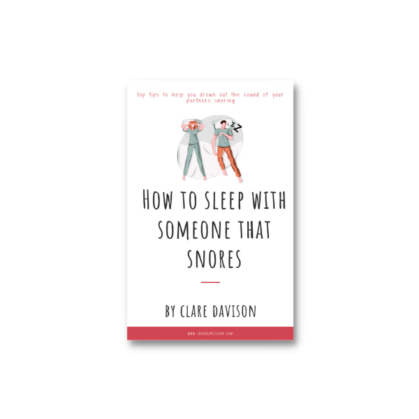 how to sleep with someone that snores