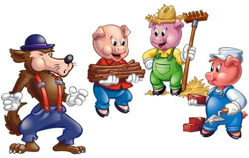 three little pigs illustrations