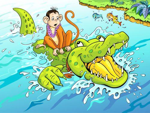 crocodile and monkey story