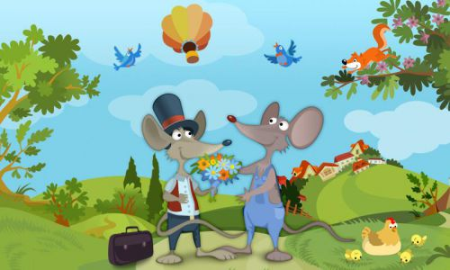 town mouse and country mouse story for kids Image Source--> @www.play.google.com