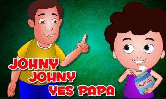 johny johny yes papa poem