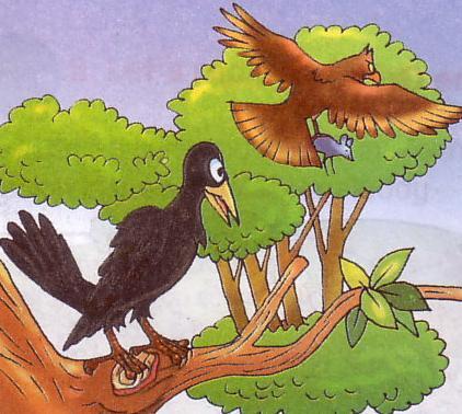 the greedy crow story