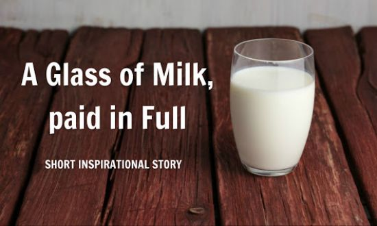a glass of milk story