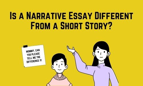 difference between short story and narrative essay