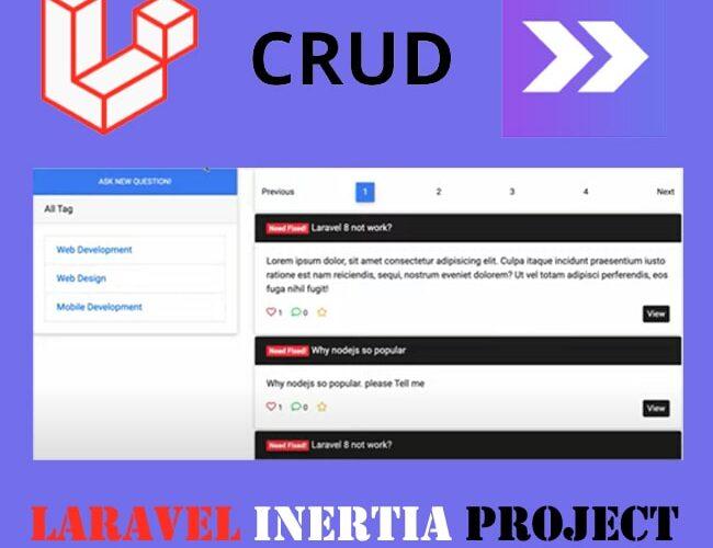 laravel inertia Project