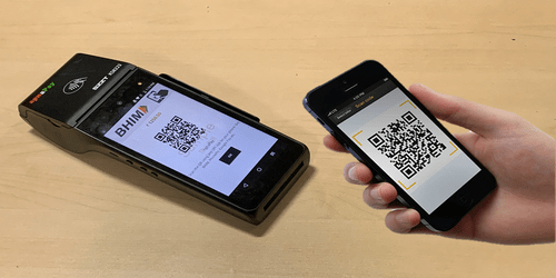 cashless payment acceptance on POS device