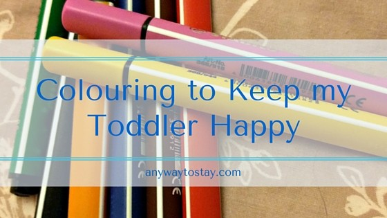 Colouring to Keep my Toddler Happy