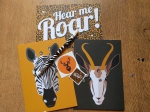 Animal Postcards with Pencil and Stickers