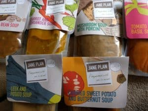 A few of the soups I have for lunch