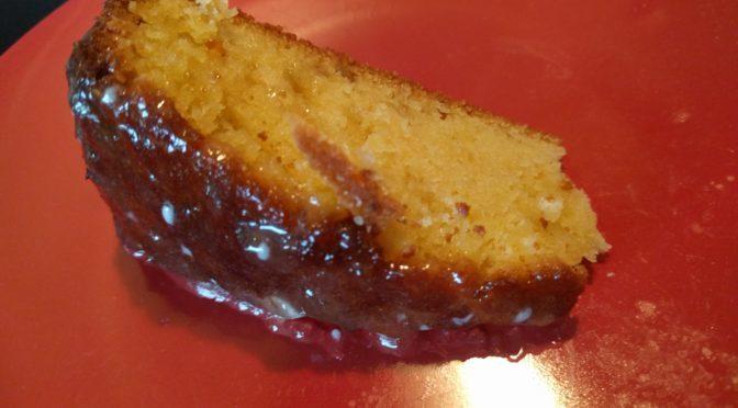 Sticky Grapefruit Drizzle Cake