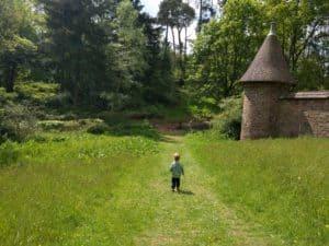 Exploring the gardens at Knighthayes