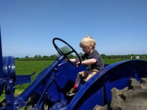 Driving an old tractor