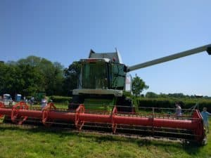 Enjoying the combine harvester