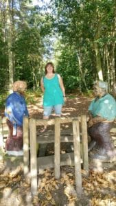 Me and one of the statues at Holt Country Park