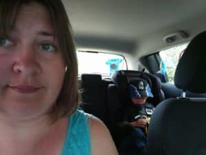Stuck in the car with a sleeping child