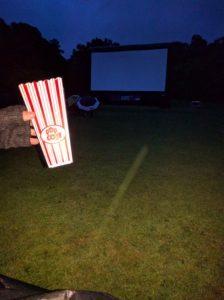 Enjoying our popcorn, thanks Monin