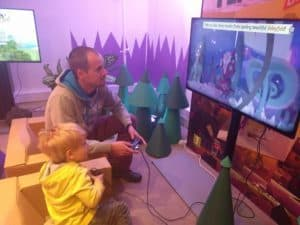 Playing games with daddy
