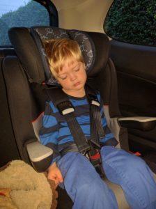 Falling asleep on the way home