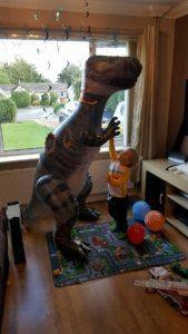 L's new dinosaur friend