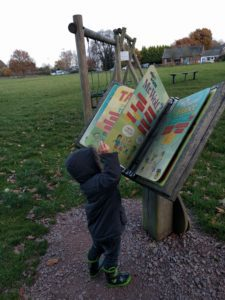 A little light reading at the park