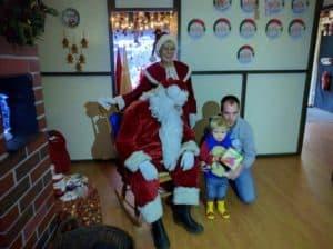 Visiting Santa last year