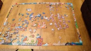I'm not sure when I'll finish my puzzle