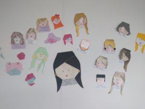 Origami faces at The Handmade Fair