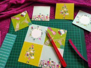 card making in progress
