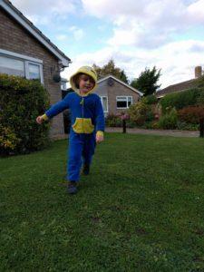 Boy in a Minion costume