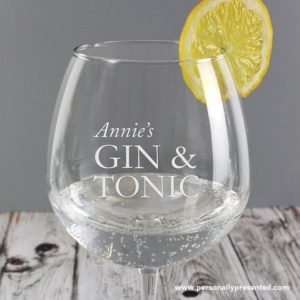 Personalised Gin & Tonic Glass