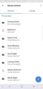 TP-Link LB130 Smart Bulb Google Home CScreenshot linking with Kasa
