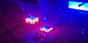 fall out boy performing at the o2 london