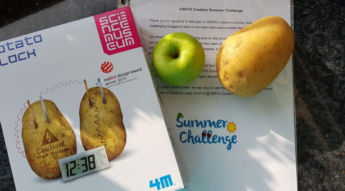 VARTA Summer Challenge #1 Build a Potato Clock