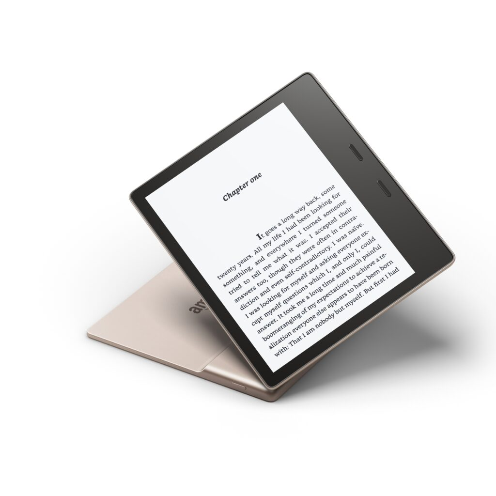 Gold Kindle Oasis, front, £259.99