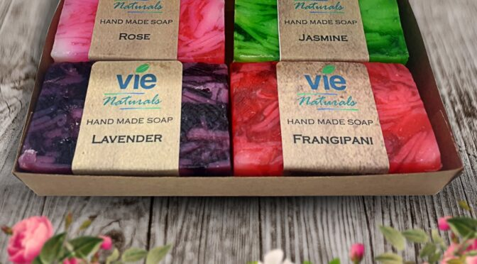 4x100g-Vie Natural Hand Made Soap-Lifestyle 1
