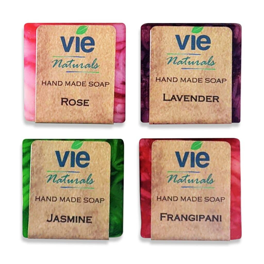4x50g Vie Naturals Hand Made Soap Main Image 2