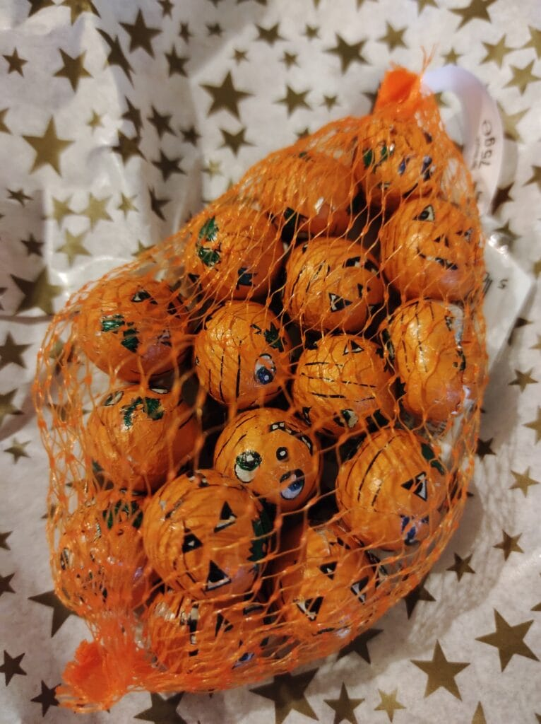 Free Gift Pumpkin Chocolates