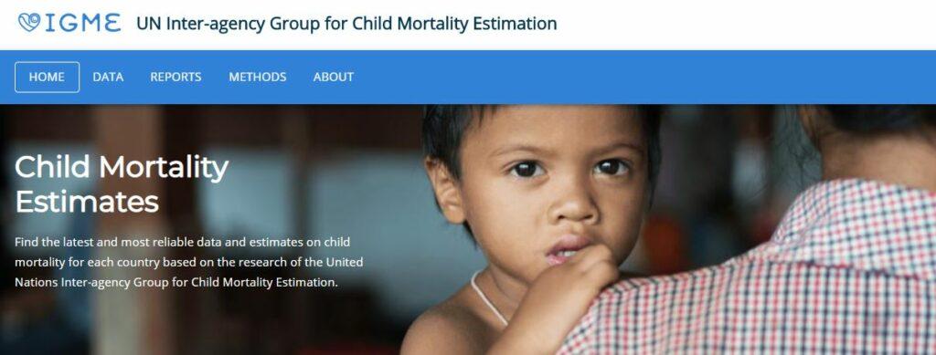 Child Mortality Estimates portal - IGME