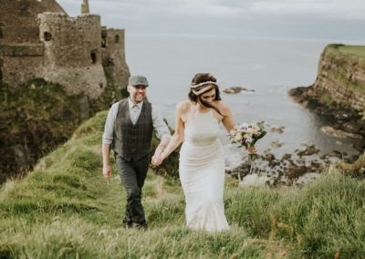 Ireland value for money cliff side and vintage wedding