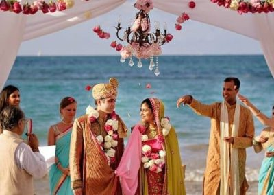 Indian Style wedding overlooking the beach in India