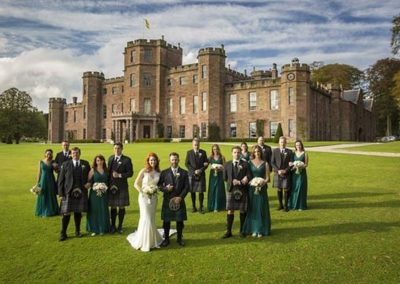 Castle Backdrop for a traditional wedding