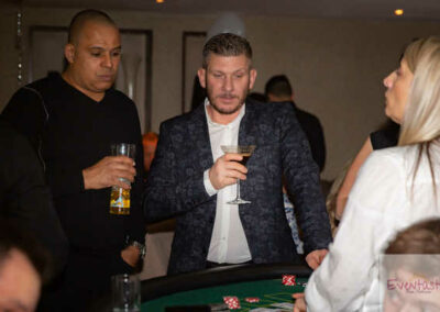 Casino Guests playing at New Years Eve Party