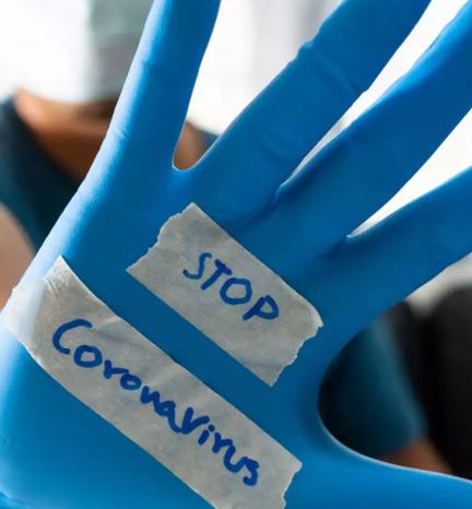 Wear gloves and masks