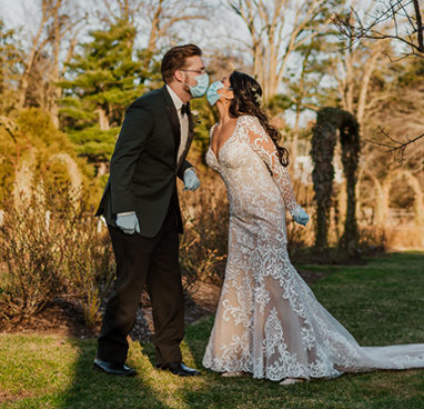 Socially Distancing Wedding