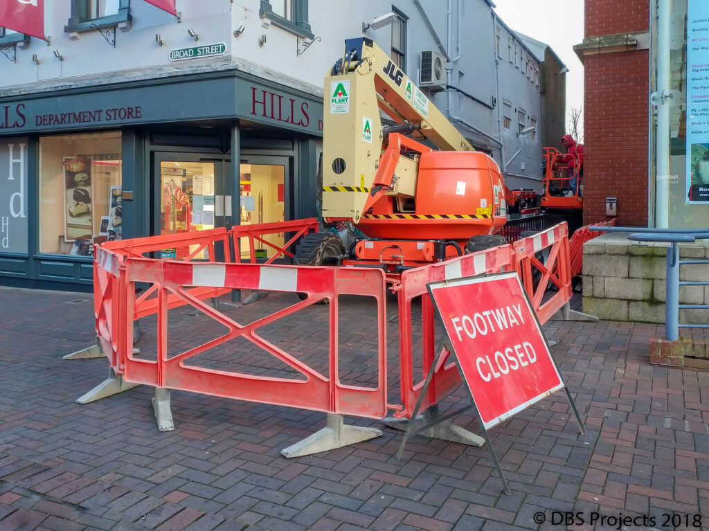South Holland Centre - Work in Progress - Footpath Closed