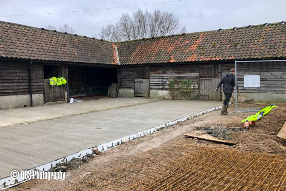 Upperwood - Concreting Slabs to new Courtyard