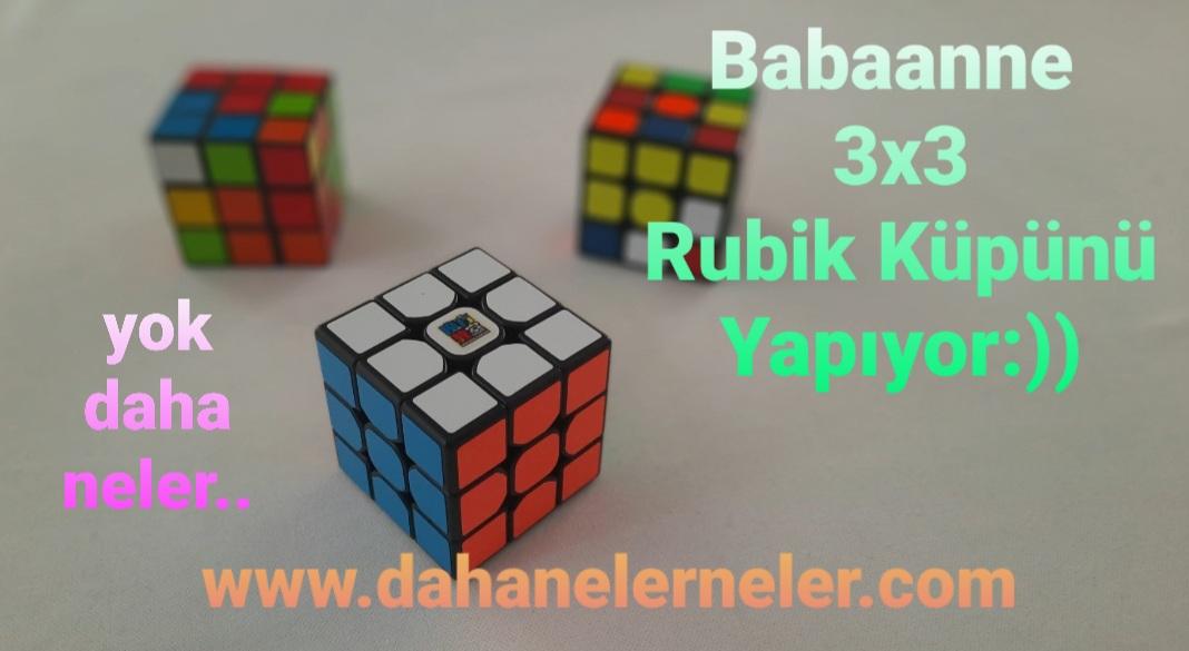 Babaanne Rubik Küpü Yapıyor:))