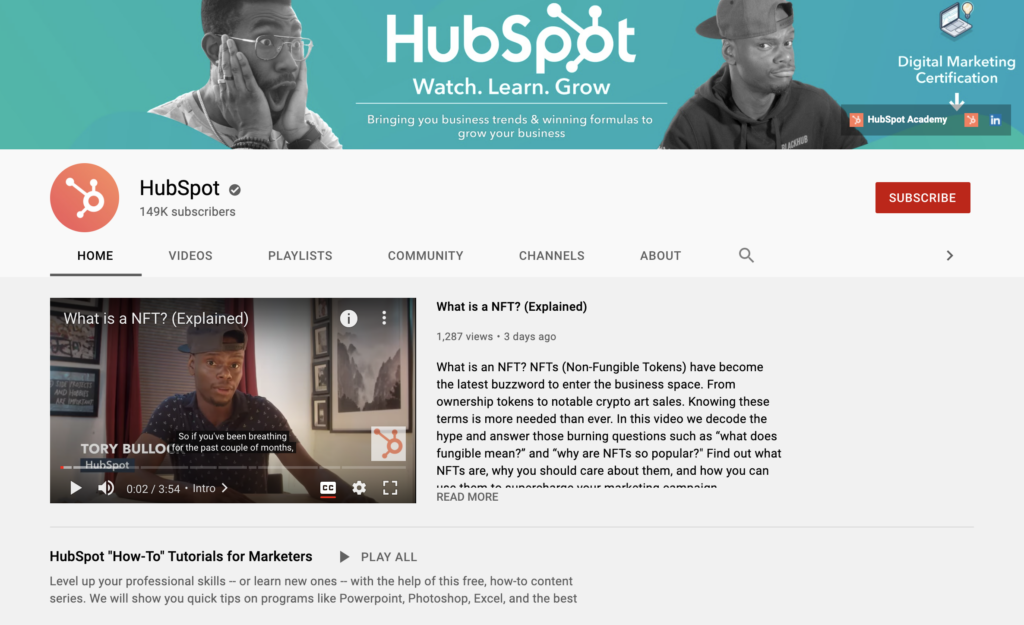 hubspot resources learning marketing